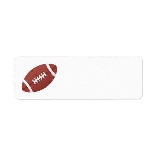 Football cartoon blank