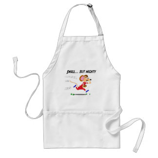 Football Cartoon Mouse Small But Mighty Standard Apron