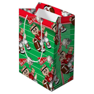 FOOTBALL CAT 1 Gift Bag -  Medium