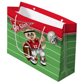 FOOTBALL CAT 3 GIFT BAG LARGE