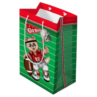 FOOTBALL CAT 3 Gift Bag -  Medium