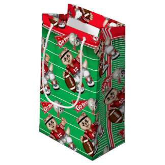 FOOTBALL CAT 4 Gift Bag -  SMALL
