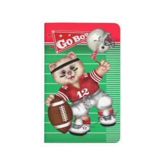 FOOTBALL CAT BOY CARTOON Pocket Journal 2