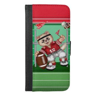 FOOTBALL CAT CUTE FUN iPhone 6/6s Plus Wallet Ca 2