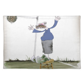 football centre forward blues placemat