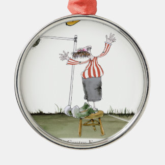 football centre forward red white stripes christmas ornament