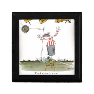 football centre forward red white stripes gift box