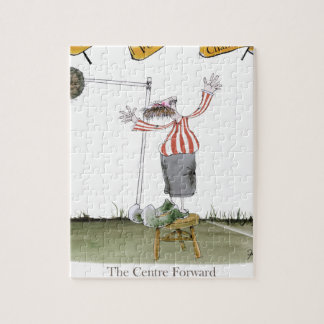 football centre forward red white stripes jigsaw puzzle