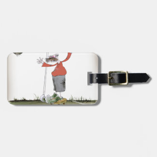 football centre forward reds luggage tag