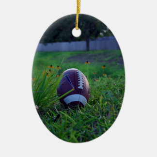 Football Ceramic Oval Decoration