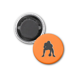 Football Chess TAG Center (Pawn) - Orange-R 3 Cm Round Magnet