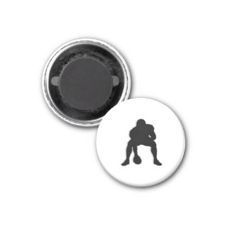 Football Chess TAG Center (Pawn) - White-L Magnets