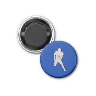Football Chess TAG Fullback (Bishop) - Blue-R Fridge Magnet