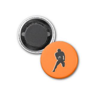 Football Chess TAG Fullback (Bishop) - Orange-L Magnet