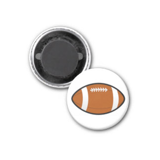 Football Chess TAG Game Ball (Brown) Magnet