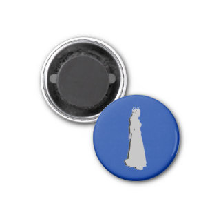 Football Chess TAG Homecoming (Queen) - Blue-L 3 Cm Round Magnet