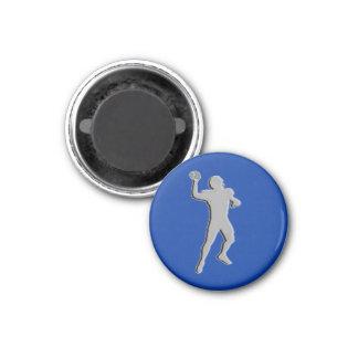 Football Chess TAG Quarterback (King) - Blue-L Refrigerator Magnet