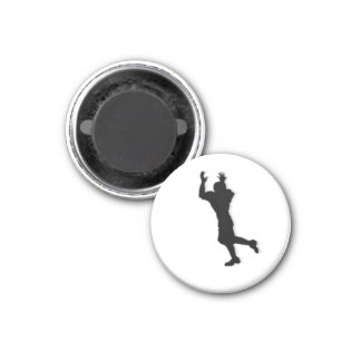 Football Chess TAG Receiver (Rook) - White-R 3 Cm Round Magnet