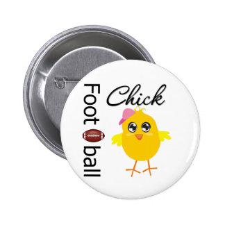 Football Chick 6 Cm Round Badge