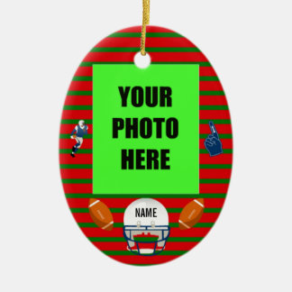 Football Christmas Photo Christmas Ornament