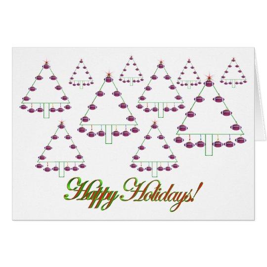 Football Christmas Tree Farm Card