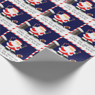 Football Christmas Wrapping Paper