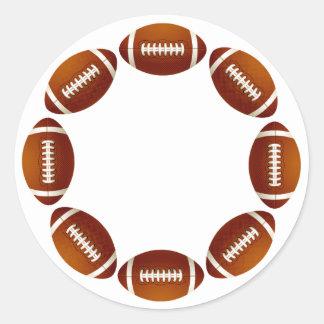 FOOTBALL CIRCLE DESIGN CLASSIC ROUND STICKER