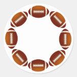 FOOTBALL CIRCLE DESIGN ROUND STICKER