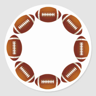 FOOTBALL CIRCLE DESIGN ROUND STICKER