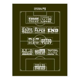 Football cliché No.1 postcard