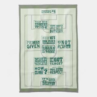 Football clichés No.2 tea towel