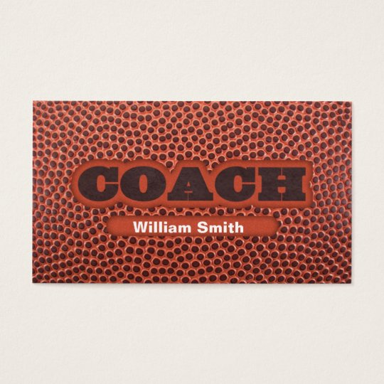 Football Coach business card
