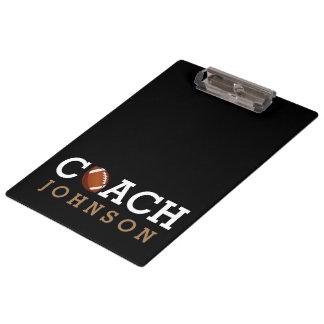 Football Coach Custom Name Clipboard
