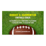 Football Coach Pack Of Standard Business Cards