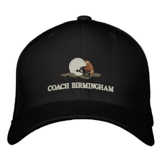 Football Coach Personalized Custom Embroidered Baseball Cap
