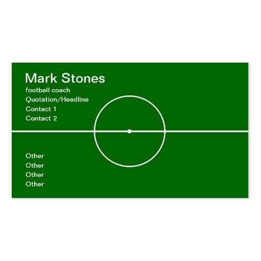Football coach professional business card template