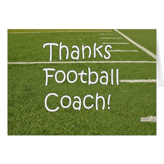 Football Coach Thank You Thanks on Playing Field