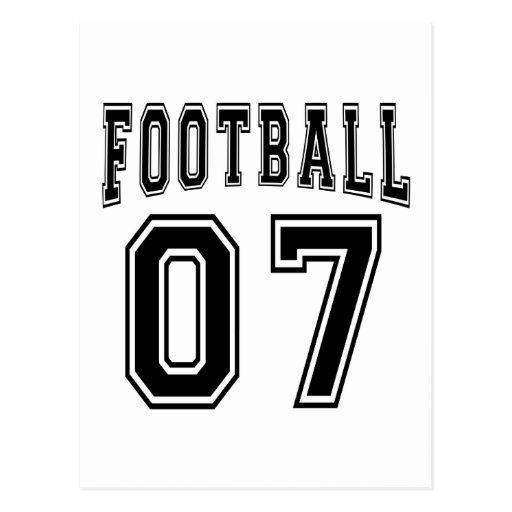 Football Crazy 07 Birthday Designs Postcards