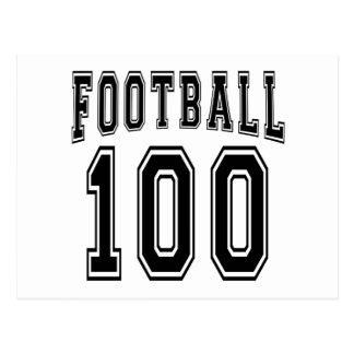 Football Crazy 100 Birthday Designs Postcard