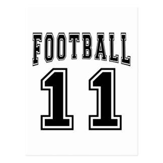 Football Crazy 11 Birthday Designs Post Cards