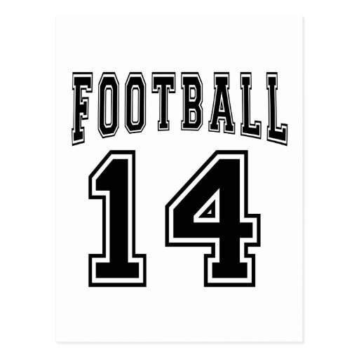 Football Crazy 14 Birthday Designs Post Cards