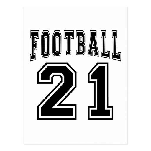 Football Crazy 21 Birthday Designs Postcards