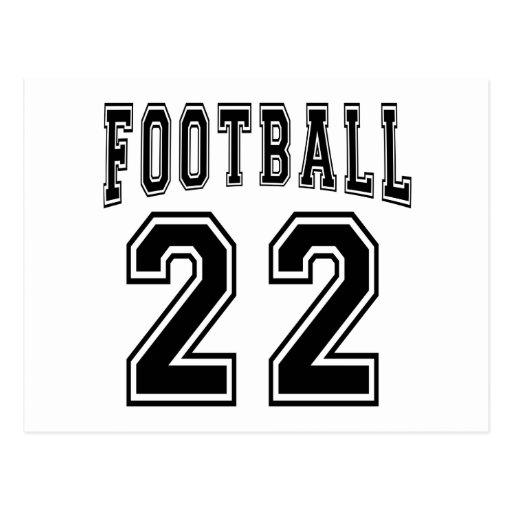 Football Crazy 22 Birthday Designs Post Cards