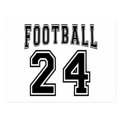 Football Crazy 24 Birthday Designs Postcards