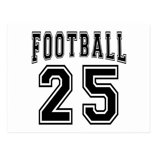 Football Crazy 25 Birthday Designs Post Card