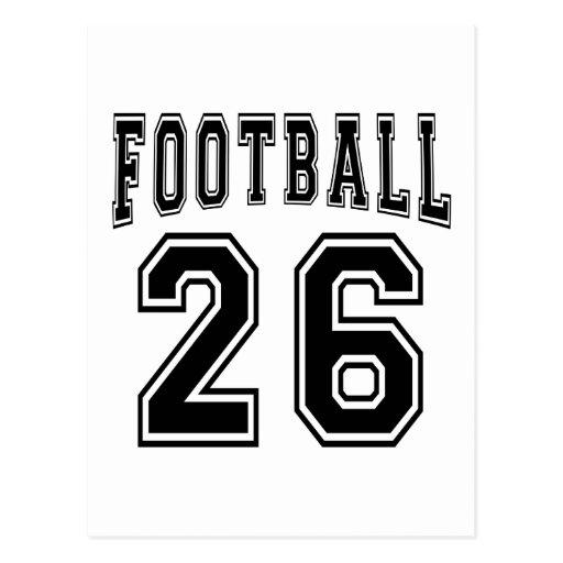 Football Crazy 26 Birthday Designs Post Card