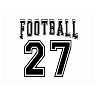 Football Crazy 27 Birthday Designs Post Cards