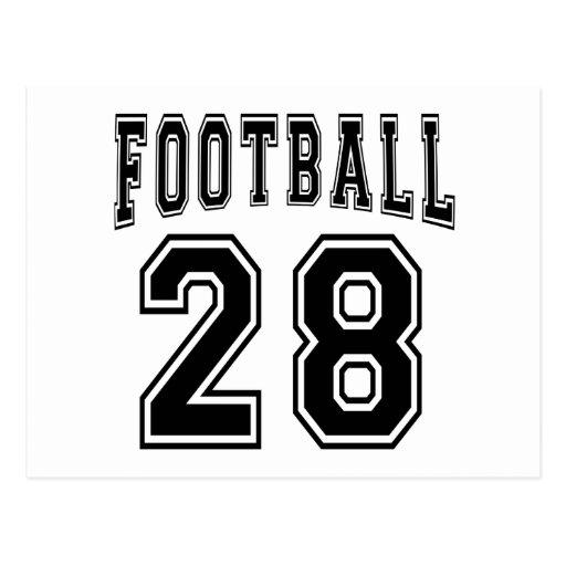 Football Crazy 28 Birthday Designs Post Card