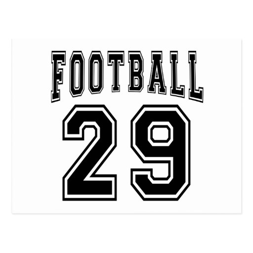 Football Crazy 29 Birthday Designs Postcard