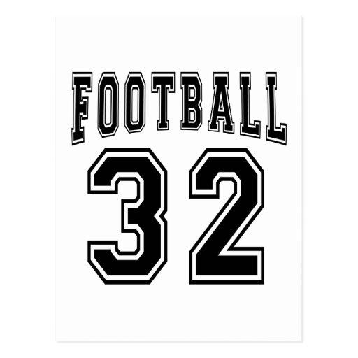 Football Crazy 32 Birthday Designs Post Card
